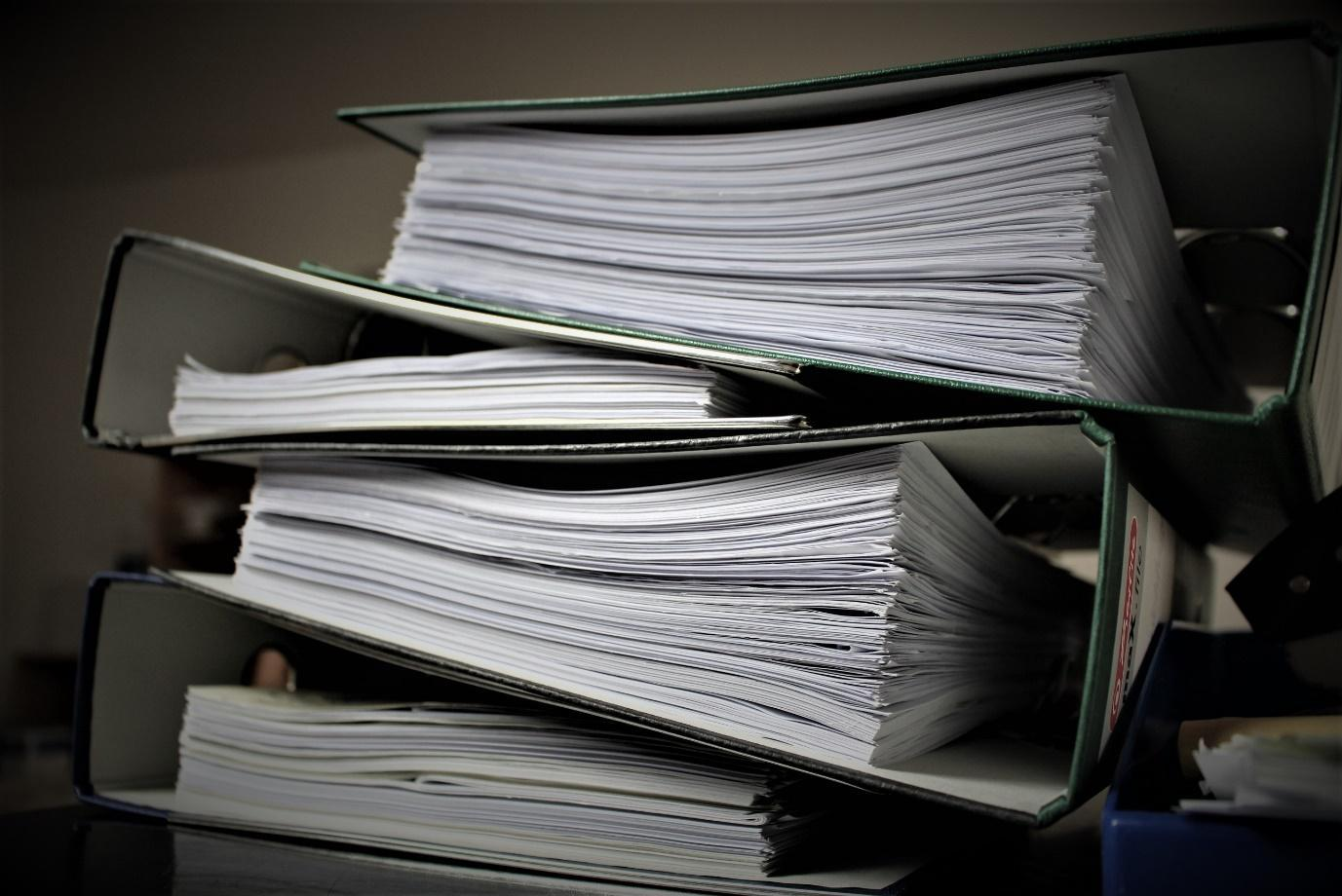 big stack of documents